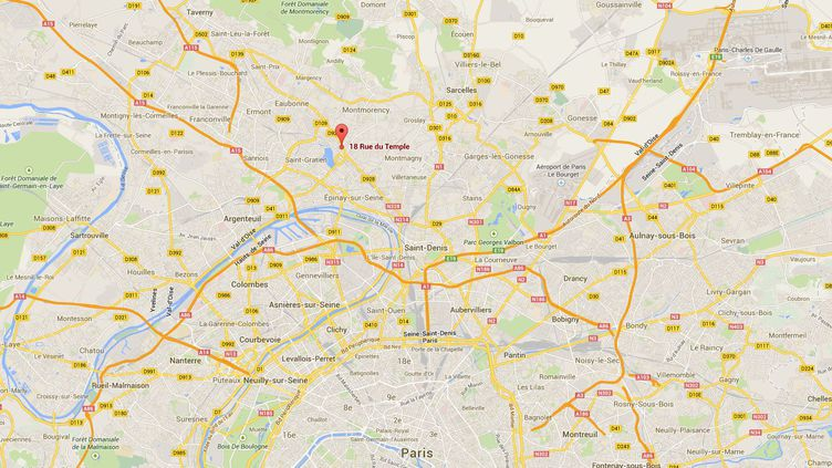 Un dépistage de tous les enfants en contact avec la personne malade, soit environ 80 enfants en bas âge, a été entrepris mardi 8 avril àEnghien-les-Bains (Val d'Oise). (CAPTURE D'ECRAN / GOOGLE MAPS)
