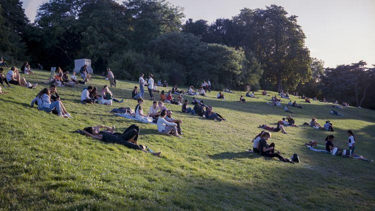 Le parc des Buttes-Chaumont, à Paris. (REMI DECOSTER / HANS LUCAS / AFP)