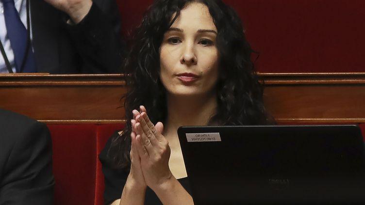 Alexandra Louis, rapporteureà l'Assemblée nationale duprojet de loi sur les violences sexistes et députée LREM des Bouches-du-Rhône, le 28 juillet 2017. (JACQUES DEMARTHON / AFP)