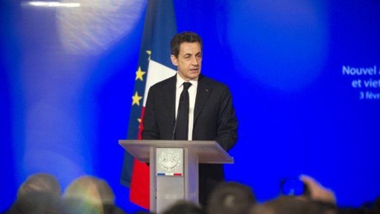 Nicolas Sarkozy au palais de l'Elysée le 3 février (LIONEL BONAVENTURE / POOL / AFP)