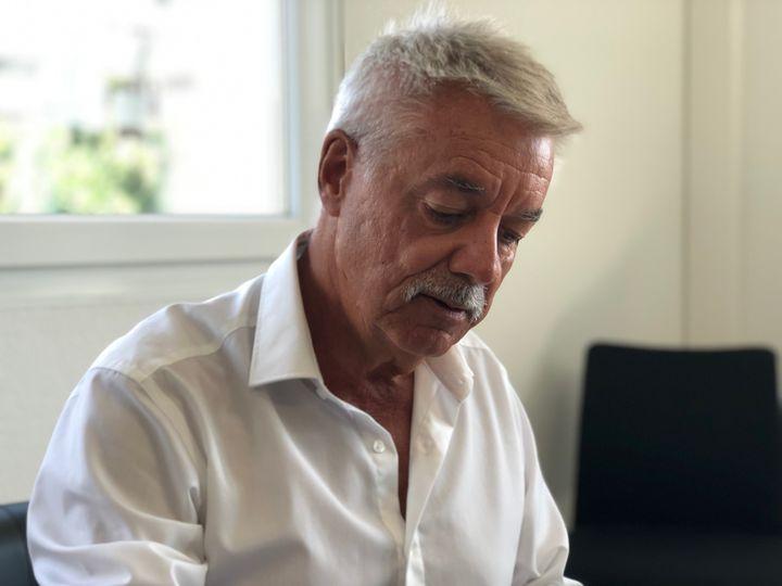 Pascal Forcioli, directeur de l'hôpital de Bastia, le 14 août 2019. (MATTHIEU MONDOLONI / FRANCE-INFO)