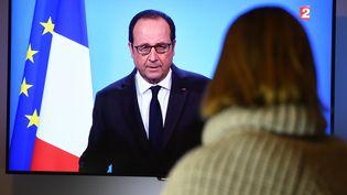 François Hollande a annoncé, jeudi depuis l'Elysée, son renoncement à briguer un second mandat, laissant sous le choc une partie des militants PS (DAMIEN MEYER / AFP)