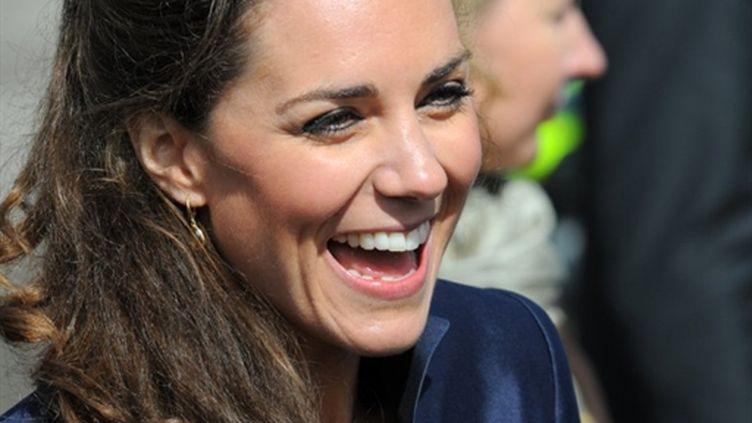 Le sourire éclatant de Kate Middleton... (AFP/ANDREW YATES)