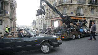 """Tournage du film """"Tombé sur la tête"""" de Didier Albert (2009). (PHOTO12 / BERNARD FAU)"""