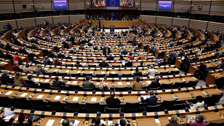 Une session plénière du parlement européen, le 1er mars 2017 à Bruxelles (Belgique). (ALEXANDROS MICHAILIDIS / SOOC / AFP)