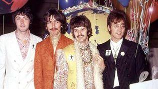 Les Beatles le 1er juin 1967 à Londres, lors d'une séance d'enregistrement.  (PA / AP /SIPA)