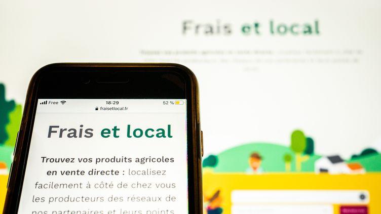 La plateforme Fraisetlocal.fr est accessible depuis janvier 2021. (XOS? BOUZAS / HANS LUCAS)