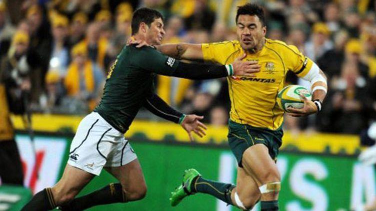 L'Australien Digby Ioane déborde la défense sud-africaine