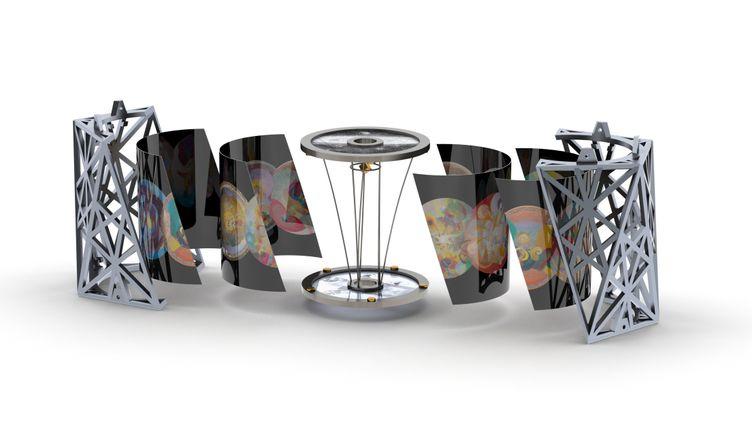"""Visualisation d'une des """"chambres"""" de l'œuvre d'art """"Moonark"""". (Moonark Project www.moonarts.com)"""