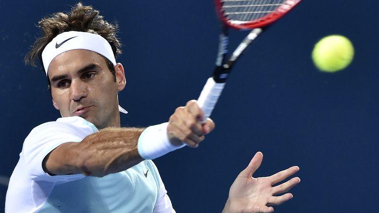 Le coup droit de Roger Federer (SAEED KHAN / AFP)