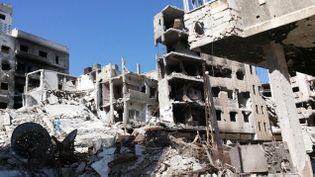 (La vieille ville de Homs, en ruines © Radio France / Valérie Crova)