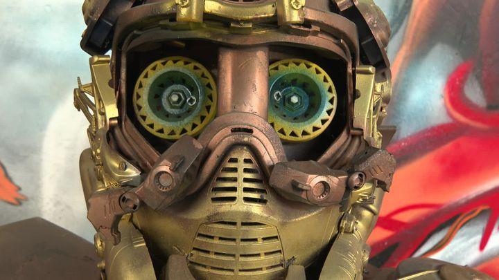 Robot à découvrir à Lorient dans le cadre de l'exposition Wood street (France Télévisions / Diaspora crew)
