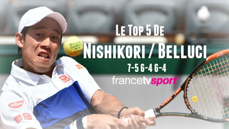 Nishikori s'est imposé en trois sets dans son 2e tour.