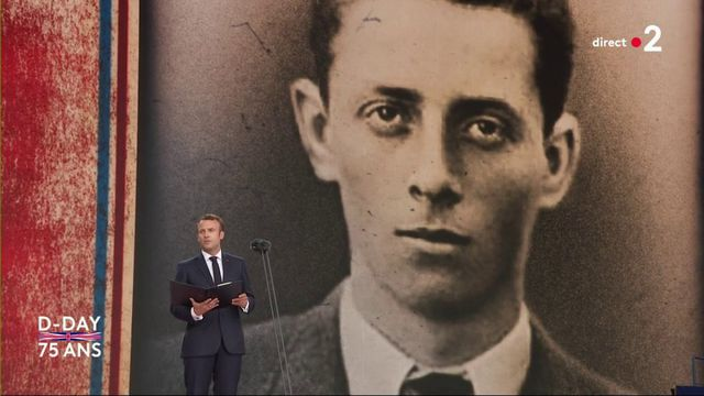 75e anniversaire du Débarquement : Emmanuel Macron lit la lettre d'adieu d'Henri Fertet, résistant fusillé à 16 ans