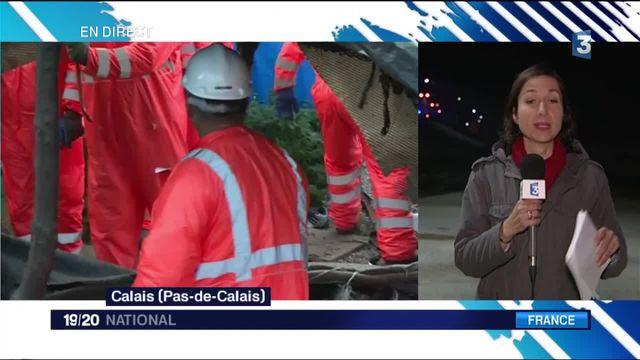 """""""Jungle"""" de Calais : les dernières habitations ont été détruites"""