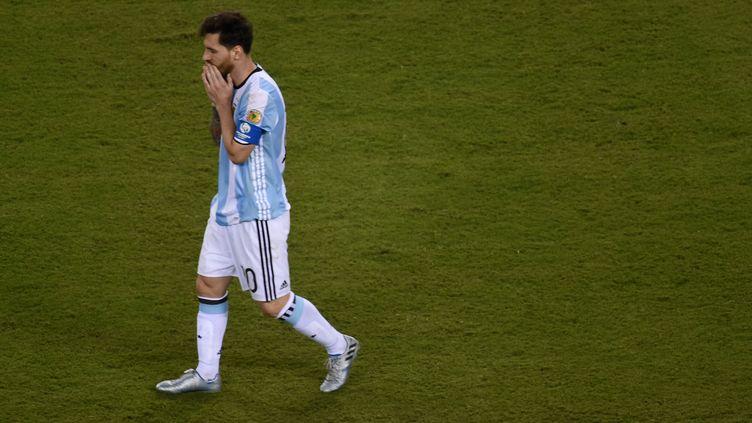 Toute la détresse de Lionel Messi  (DON EMMERT / AFP)