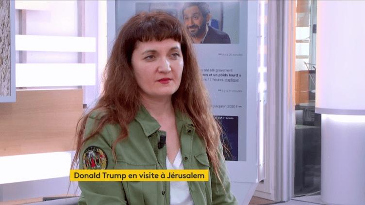 Marie-Cécile Naves, politologue et spécialiste des Etats-Unis, invitée le 22 mai 2017 sur Franceinfo. (FRANCEINFO)
