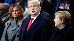 Donald Trump et sa femme Melania, le 11 novembre 2018 au pied de l'arc de triomphe, à Paris. (AFP)