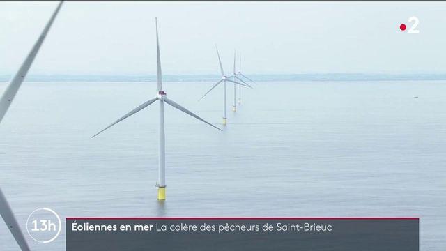 Saint-Brieuc : les pêcheurs se mobilisent contre la construction d'un grand parc éolien en mer
