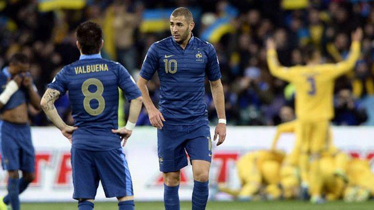 Les joueurs français Mathieu Valbuena et Karim Benzema