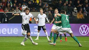 L'Allemagne affronte l'Irlande du Nord lors des éliminatoires de l'Euro 2020, le 19 novembre 2019 à Francfort (Allemagne). (FIRO / SEBASTIAN EL-SAQQA / AUGENKLICK / FIRO SPORTPHOTO / AFP)