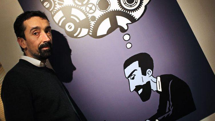 Le scénariste Fabien Nury au Festival international de bande dessinée d'Angoulême 2015  (Renaud Joubert / PHOTOPQR/CHARENTE LIBRE )