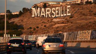 L'autorout A55 à Marseille, en janvier 2018. (ANNE-CHRISTINE POUJOULAT / AFP)