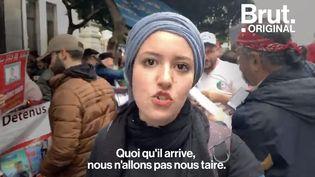 """VIDEO. """"Je veux vivre libre en Algérie, je veux vivre en Algérie sans avoir peur"""", lance un jeune manifestant (BRUT)"""