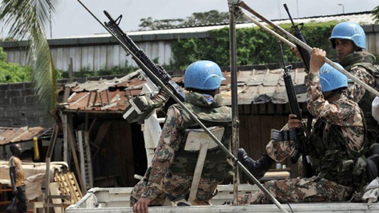 Patrouille de l'ONUCI à Abidjan (AFP)