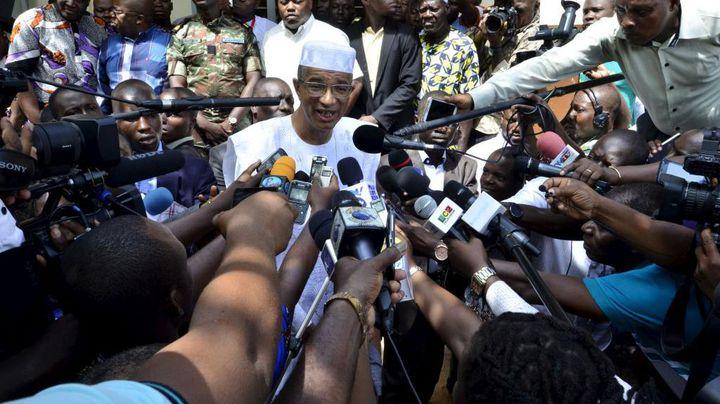 Lionel Zinsou face à la presse le 20 Mars 2016 à Cotonou au Bénin (Photo Reuters/Charles Placide Tossou)