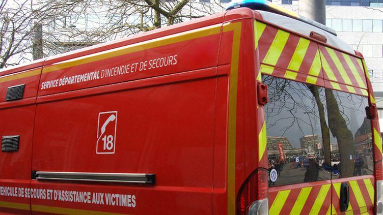 (Un camion de pompiers a été attaqué en Haute-Savoie mercredi matin © MaxPPP)