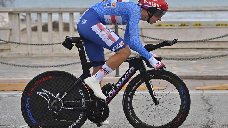 Tadej Pogačar lors du contre-la-montre de San Benedetto del Tronto en 2021 (MARCO ALPOZZI/AP/SIPA / SIPA)