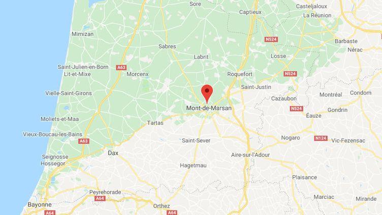 L'accident s'est produit à Mont-de-Marsan dans les Landes. (GOOGLE MAPS / FRANCETV INFO)