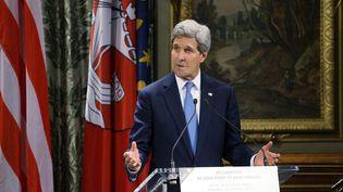 Le secrétaire d'Etat américain John Kerry à l'Hôtel de ville de Paris le 16 Janvier 2015. (RICK WILKING / AFP )