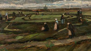 """Vincent Van Gogh : """"Raccomodeuses de filets dans les dunes"""" (1882)  (Artcurial)"""