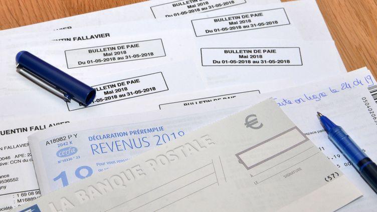 Une photo d'illustration de l'impôt sur le revenu, datée du 28 janvier 2020. (ALLILI MOURAD / SIPA)