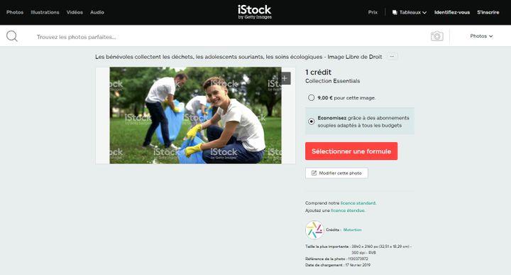 Capture d'écran d'une page de la banque d'images iStock. (ISTOCK)