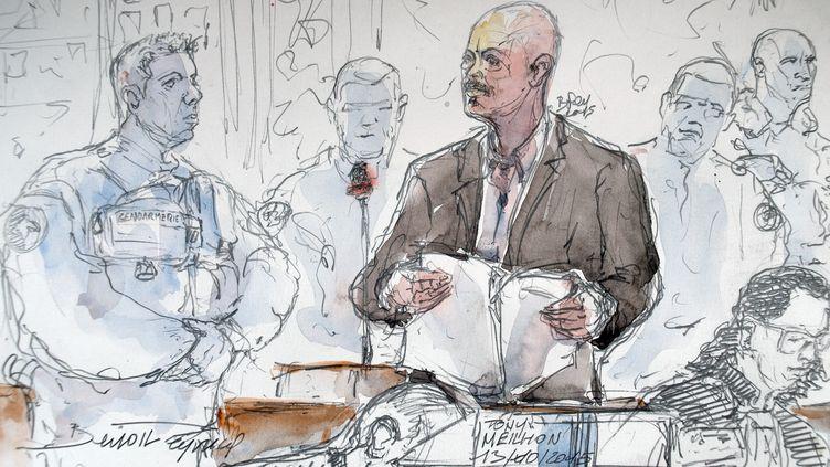 Tony Meilhon lors de son procès en appel, le 13 octobre 2015, à Rennes (Ille-et-Vilaine). (BENOIT PEYRUCQ / AFP)