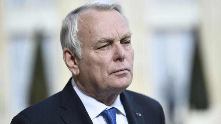 Jean-Marc Ayrault, ancien Premier ministre et président de la Fondation pour la mémoire de l'esclavage, le 26 avril 2017. (STEPHANE DE SAKUTIN / AFP)