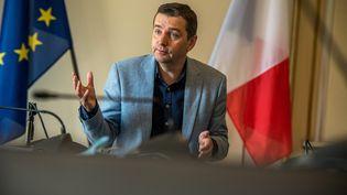 Le maire de Saint-Etienne (Loire) Gael Perdriau en juillet 2021. (VERO MARTIN / HANS LUCAS)