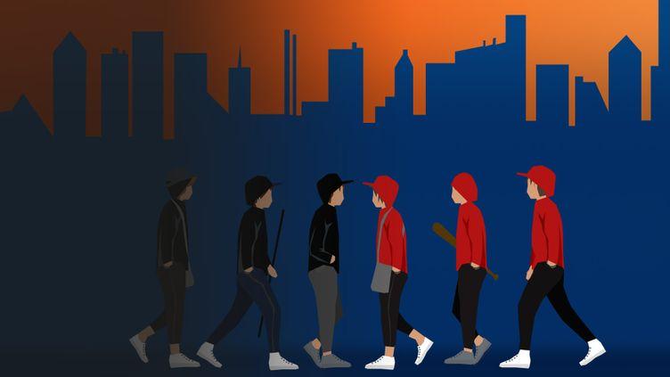 Les affrontements entre de jeunes ont augmenté en France en 2020. (STEPHANIE BERLU / RADIO FRANCE)