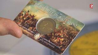 La pièce de 2 euros belge commémorant le bicentenaire de la bataille de Waterloo. (FRANCE 2)