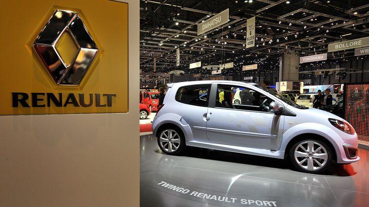 La Twingo sport de Renault présentée au Salon international de Genève, le 4 mars 2008. (FABRICE COFFRINI / AFP)