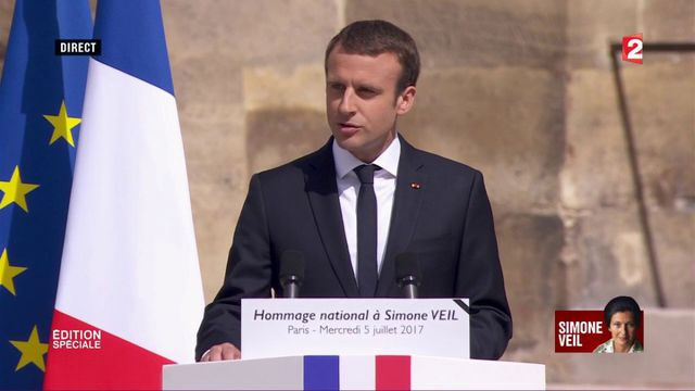 "VIDEO. Emmanuel Macron : Simone Veil ""reposera avec son époux au Panthéon"""