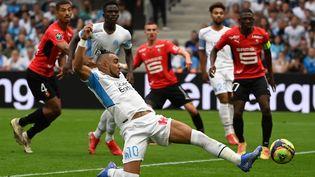 DImitri Payet (Olympique de Marseille) reprend un centre contre Rennes en Ligue 1, le 19 septembre au Stade Vélodrome (CHRISTOPHE SIMON / AFP)