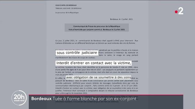 Féminicide : une femme tuée à l'arme blanche par son ex-conjoint à Bordeaux