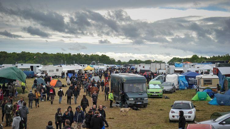 Teknival de Pernay, 30 avril 2017 (GUILLAUME SOUVANT / AFP)