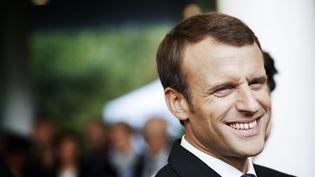Le président Emmanuel Macron à Orsay (Essonne), le 25 octobre 2017. (MAXPPP)
