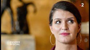 """Marlène Schiappa, la secrétaire d'Etat chargée de l'Egalité entre les femmes et les hommes, dans un reportage d'""""Envoyé spécial"""" diffusé le 12 avril 2018 sur France 2. (ENVOYÉ SPÉCIAL  / FRANCE 2)"""