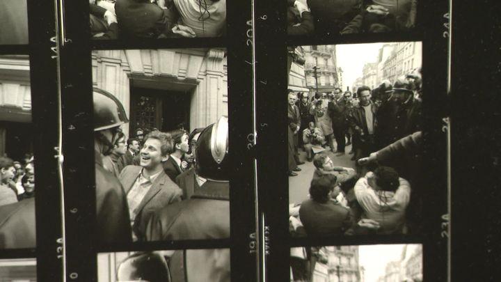 Planche contact de la série Daniel Cohn-Bendit et les CRS en mai 1968 (France 3 Normandie)